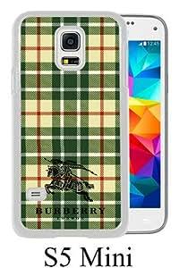 Galaxy S5 Mini Case,Burberry 16 White Samsung Galaxy S5 Mini Screen Cover Case Unique and Art Design