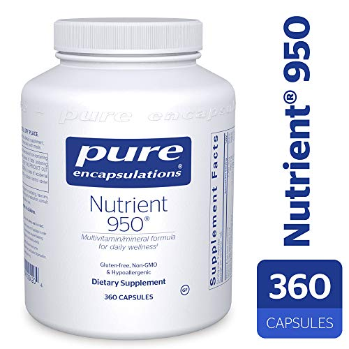 Pure Encapsulations – Nutrient 950 – Hypoallergenic Multi-Vitamin Mineral Formula for Optimal Health* – 360 Capsules