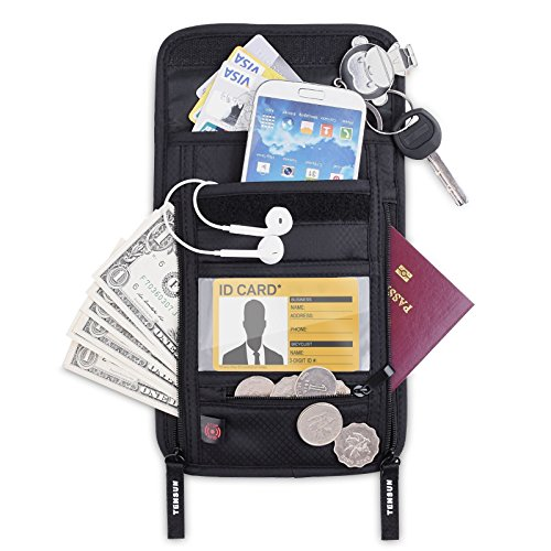 Tensun Neck Pouch Wallet, Passport Holder Stash...