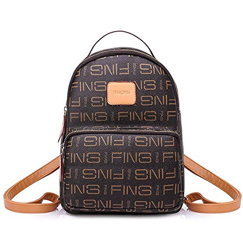 Brown Purse Mini Dark Casual for Backpack SAMSHOWME Backpack Leather Women 1fqTnwAz