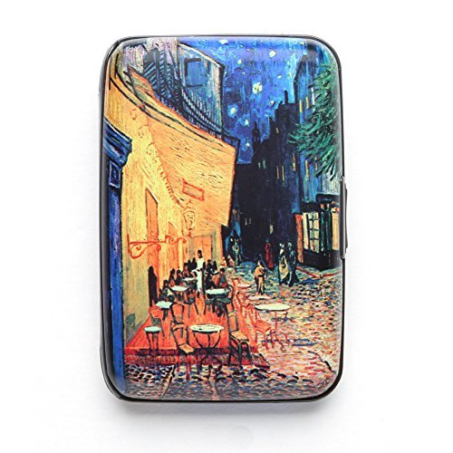 (Van Gogh Cafe Terrace Armored Credit Card RFID Block Wallet and Cash Holder)