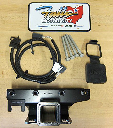 (Jeep Wrangler JK Trailer Tow Hitch Receiver / 4-Way Wiring Kit &)