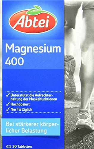 Abtei Magnesium 400mg Tabletten, 30 Stück, 1 er Pack (1 x 39,5g)