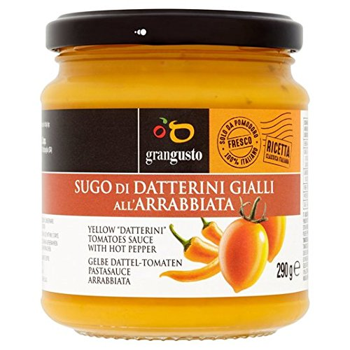 Grangusto amarillo del tomate y los chiles Pasta 290g Salsa