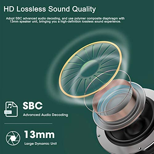 Bluetooth 5.2 Wireless Earbuds Built-in Mic HD Lossless Sound Quality in-Ear Ear Buds IPX7 Waterproof Sports Earphones with LED Display Charging Case for iPhone/Android Apple airpods