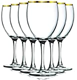 Gold Nuance Wine Glassware with Beautiful Colored Stem Accent – 10 oz. set of 6- Additional Vibrant Colors Available by TableTop King Review
