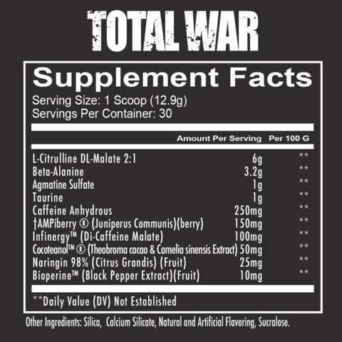Total War - Pre Workout - 30 Servings - Newly Formulated - Sour Gummy