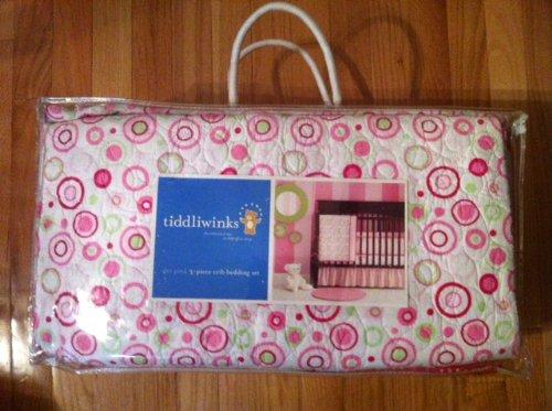 Tiddliwinks Pink Dot 3 pc Bed Set
