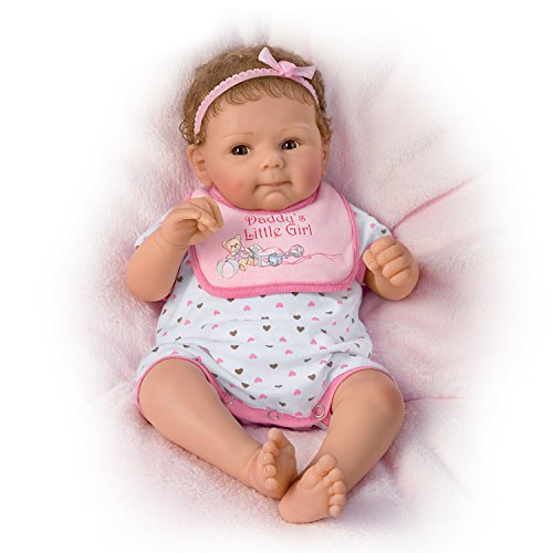 The Ashton-Drake Galleries Daddy's Little Girl So Truly Real Poseable, Weighted Baby Doll By Sherry Rawn