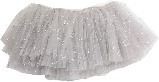 Falda tutú de tul gris para niñas, disfraz de fiesta para niños ...