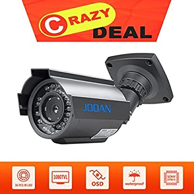 Security Camera, JOOAN 605HRA 1000TVL Bullet Camera CCTV Analog Camera Home Security Systems With HD Night Vision by JOOAN