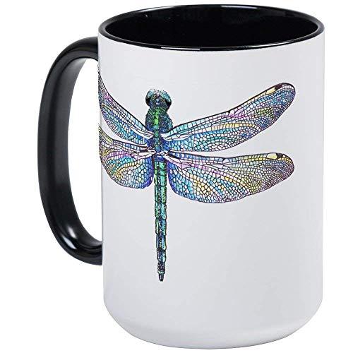 (Dragonfly Mug - 11oz RINGER Coffee Mug, Ceramic)