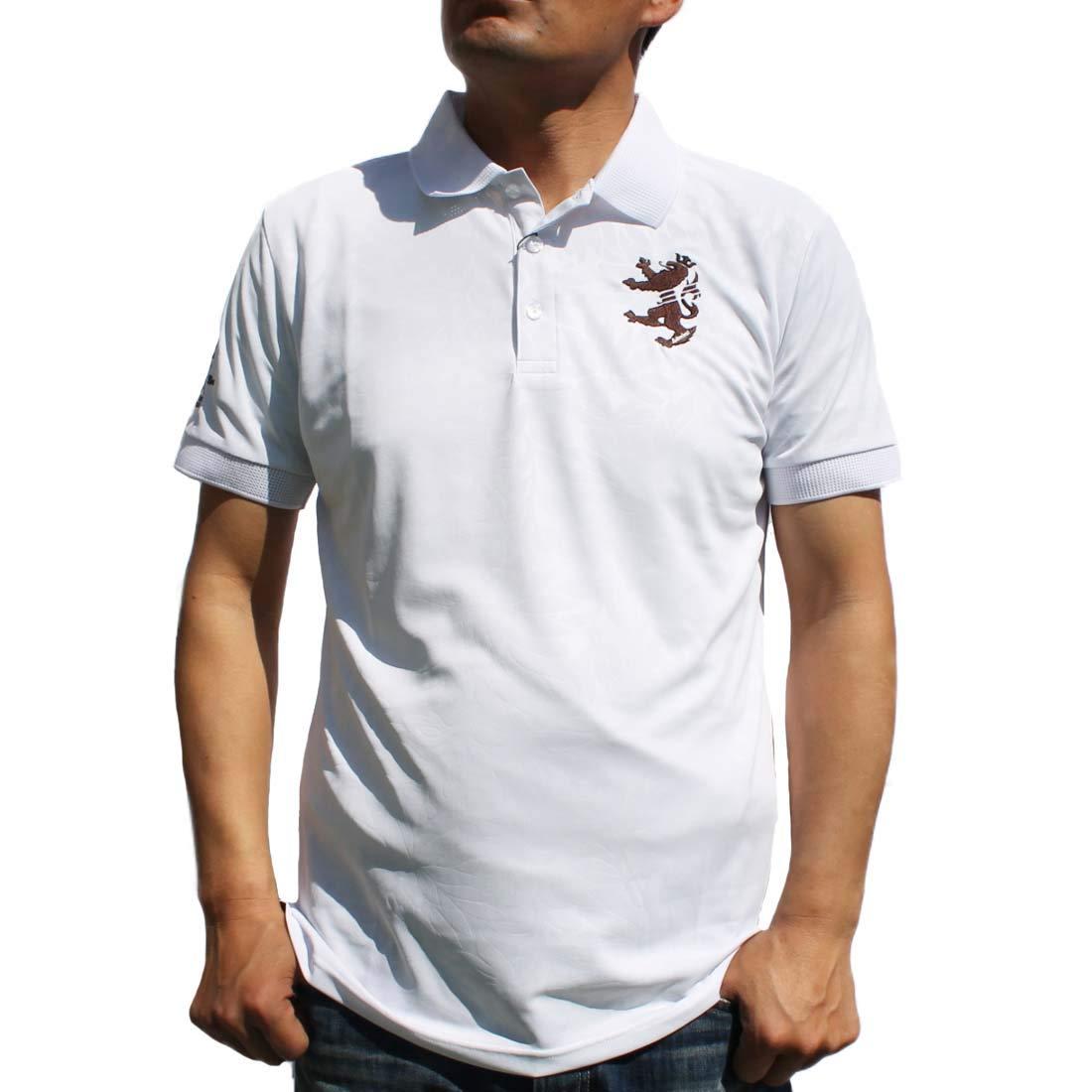 【オープニングセール】 アドミラルゴルフ AdmiralGOLF メンズ メンズ ポロシャツ 半袖 ホワイト パーツギンガムリーフ ADMA951 LL 半袖 ホワイト B07PRZZ3CQ, イツキムラ:510d1bee --- ballyshannonshow.com