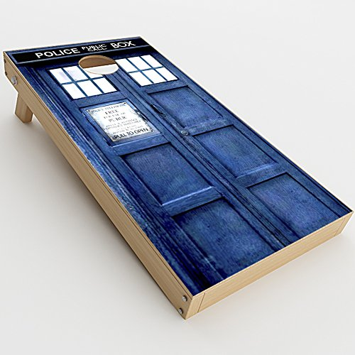 - Skin Decal Vinyl Wrap for Cornhole Game Board Bag Toss (2xpcs.) Skins Stickers Cover / Phone booth, Tardis call box