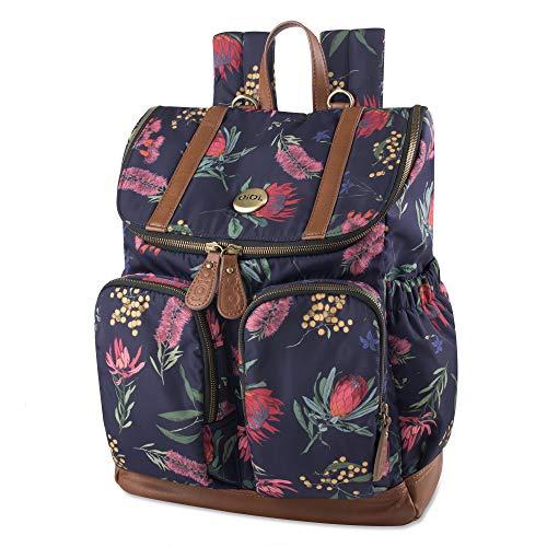 - OiOi Multi Pocket Baby Diaper Bag Backpack - Botanical Floral