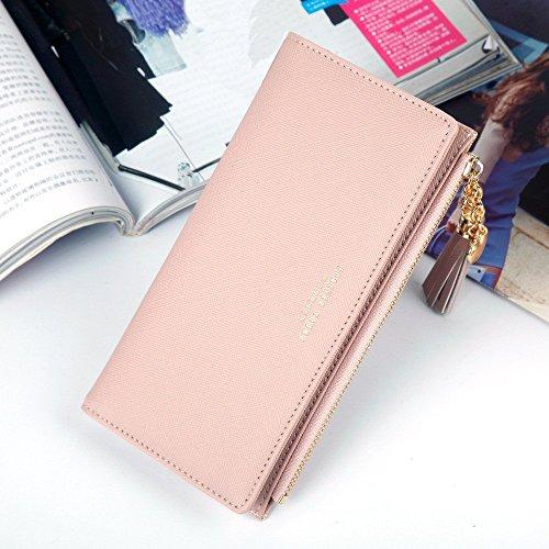 Lovely Black Of Pendant Bag rabbit Women Strap Tassel Wrist Zipper Clutch Lady Color Purse Pink rwxrqPOtHY