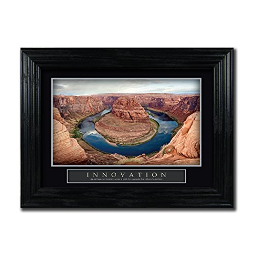 Framed Motivational Desktop Poster Innovation Grand Canyon 5 X7  Scenic Inspirational Quote Home Business Office Desk Art Gift