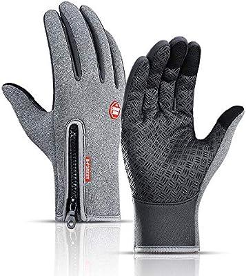 JESOHO Guantes de invierno con pantalla táctil, guantes de ...