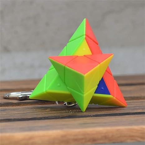 DRFFF Cubo de Velocidad de Color sólido Mini pirámide ...