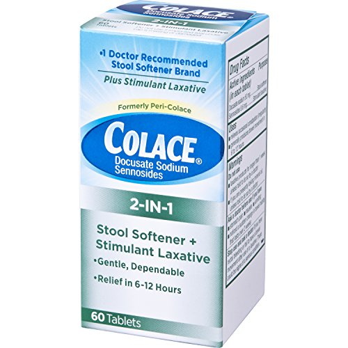 Colace 2 In 1 Stool Softener Amp Stimulant Laxative Tablets