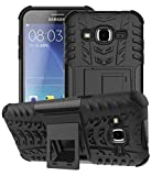 Mobiclonics Get Free Data Cable With Rugged Hard Dual Layer Back Cover Case with Kickstand for Samsung Galaxy J2 Pro(Black)
