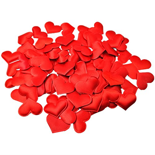 - Kalevel 100pcs Heart Table Confetti Wedding Confetti Hearts Table Decoration Wedding Hearts Confetti Engagement Table Decor Red Wedding Decorations for Reception