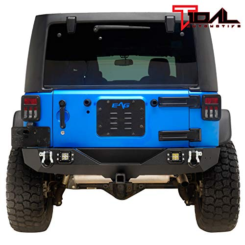 Black Stamped Louver Kit - Tidal Tailgate Vent Cover Spare Tire Delete Plate
