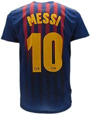 cde8ed082f7ee Camiseta de Fútbol Lionel Leo Messi 10 Barcelona Barça Home Temporada  2018-2019 Replica Oficial