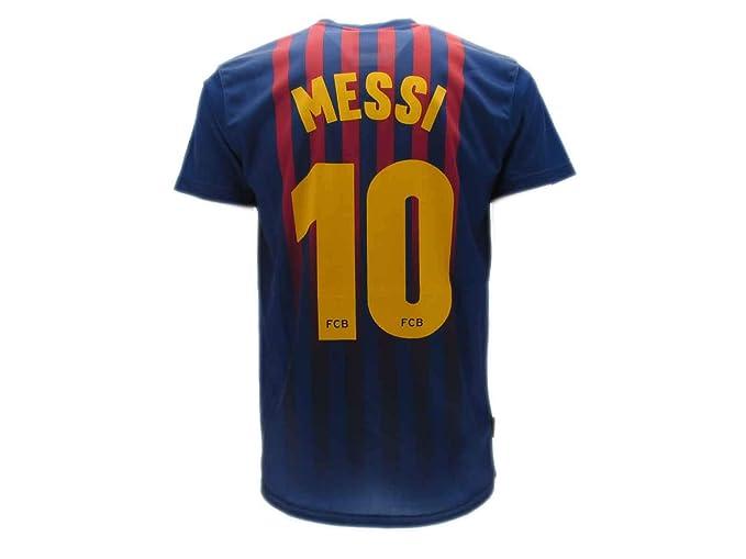 d9e3f28adb7f3 Camiseta de Fútbol Lionel Leo Messi 10 Barcelona Barça Home Temporada 2018-2019  Replica Oficial