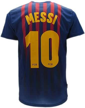 Camiseta Jersey Futbol Barcelona Lionel Messi 10 Replica Autorizado 2018-2019 Niños (2,4,6,8,10,12,14 año) Adultos (Small, Medium, Large, Xlarge)