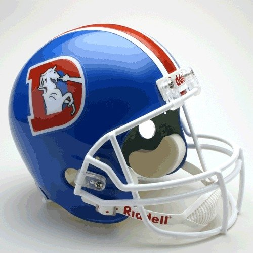 Denver Broncos 1975-96 Throwback Riddell Deluxe Replica Helmet