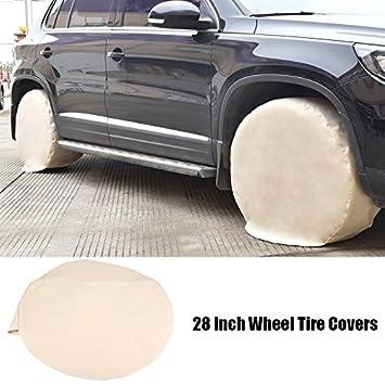 Zerone 4Pcs Funda para Neumáticos Coche, Cubierta de Protección de la Rueda Cubierta de Neumático de 28 Pulgadas para RV Camper Trailer: Amazon.es: Coche y ...