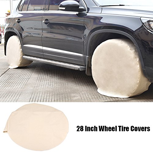 /28/Inches 28/x 26/cm Car Tyre Cover 4pcs Spare Tyre Cover Protection Storage Bag for Auto Car Caravan Motorhome Utility Tires/