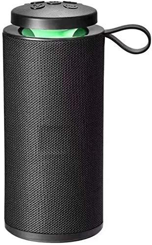 Jiyatech GT-112 Bluetooth Speaker Portable Outdoor Rechargeable Wireless Speakers Soundbar Subwoofer Loudspeaker TF MP3 Built-in Mic (Black)