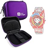 Purple Hard EVA Shell Case with Carabiner Clip & Twin Zips for Nickelodeon Kids PAW4016 Paw Patrol Watch - by DURAGADGET