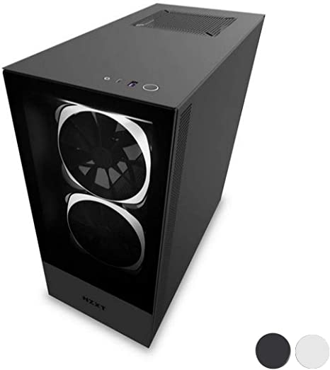 NZXT White H510 Elite Mid Tower Windowed PC Gaming Case Color ...