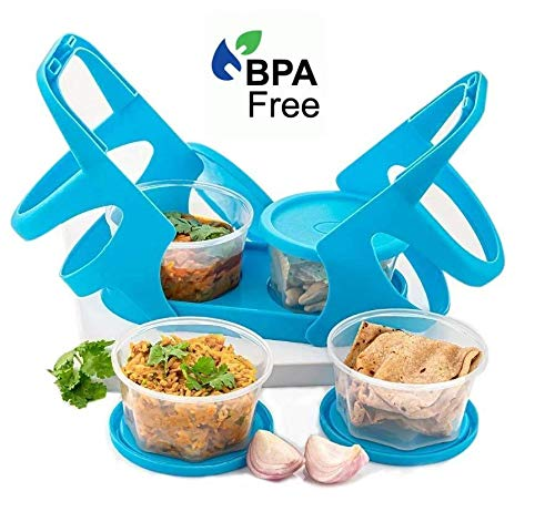 Oleander Plastic Lunch Box/Tiffin Box with Attractive Stand Food Containers