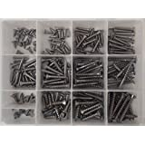 (190PCS) ☆ Metal Sheet Screw ◘ Stainless Steel ◘ FLAT Head Square Drive ◘ #6 #8 #10 ☆