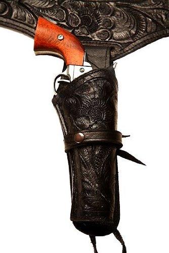 44/45 Caliber Black Leather Gun Holster Size 46 -