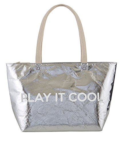 Hold Everything Play it Cool Insulated Metallic Large Cooler Bag, 18 Inch