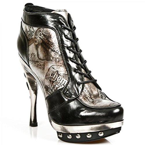Nuovi Stivali Da Roccia M.punk006-c9 Gotico Hardrock Punk Damen Stiefelette Schwarz
