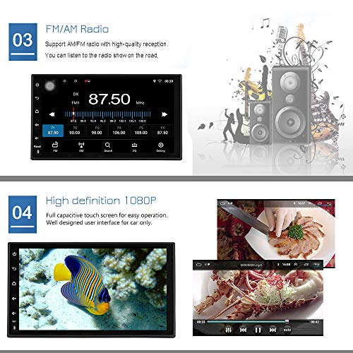 Kkxxx S10 Plus Android 90 Autoradio 2gb Ram 32gb 2 Din Navegacion Gps Am Fm Rds Quad Core 7 Pulgadas Pantalla Tactil Capacitiva Control Del Volante Entrada De Camara De Vision Trasera