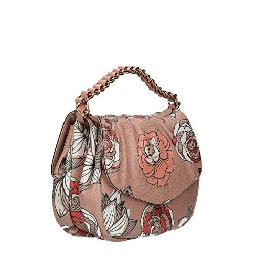 Coccinelle Julie hand bag large with floral prints with belt multicolor