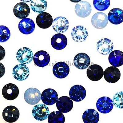 164a810ef1 Swarovski 2058 SS20 (4.7mm) crystal flatbacks No-Hotfix rhinestones BLUE  Colors Mix