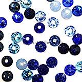 flatback swarovski crystals blue - Swarovski 2058 SS16 (3.9mm) crystal flatbacks No-Hotfix rhinestones BLUE Colors Mix
