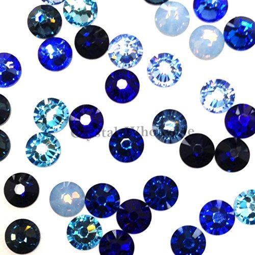 Swarovski 2058 SS20 (4.7mm) crystal flatbacks No-Hotfix rhinestones BLUE Colors Mix