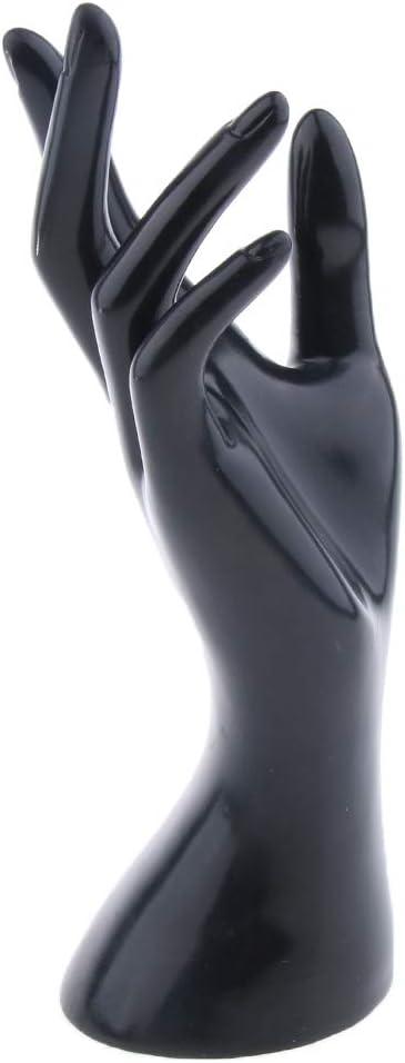 Homyl Main de Mannequin F/éminin pour lAffichage de Montre Bague Bracelet Bijoux avec 4 Couleurs Disponsables Noir