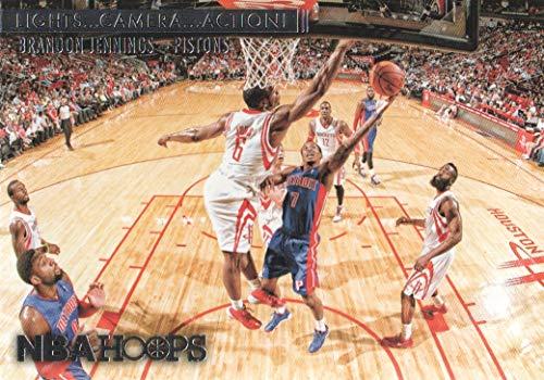 (2014-15 NBA Hoops Basketball Lights Camera Action #13 Brandon Jennings Pistons)