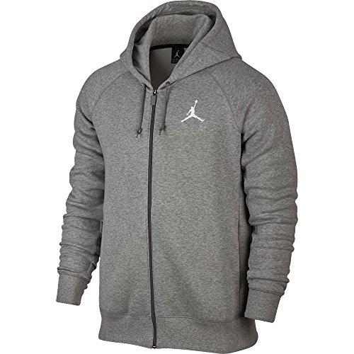 Jordan Jumpan Flight Men's Hoodie Winter Warm Pullover Grey/White 823064-063 (Size S)