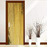 great bamboo wall decals Door Stickers Wall Murals Decals Removable Light Golden Bamboo Great for Any Project Plea AKE a Look at My Similar Bamboo Images Art Decor 3D Door Wall Mural Wallpaper Stickers W31 x H79